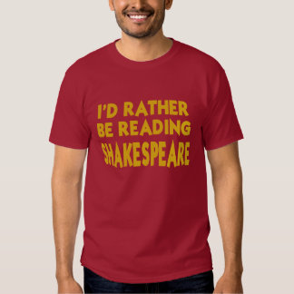 Reading Shakespeare T Shirt