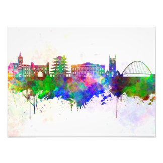Reading skyline in watercolor background photo print