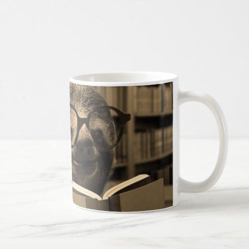 Reading Sloth Coffee Mugs