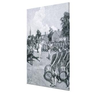 Reading the Declaration before Washington's Canvas Print