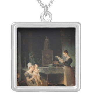 Reading the Letter Silver Plated Necklace