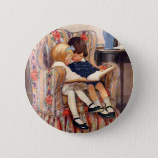 Reading Together 6 Cm Round Badge