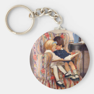 Reading Together Basic Round Button Key Ring