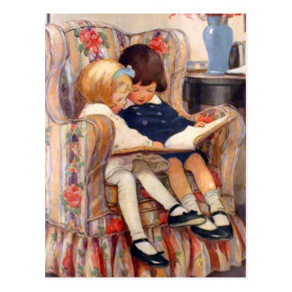 Reading Together Postcard