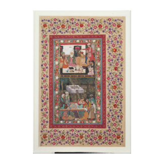 Reading Verse and a Banquet Canvas Print