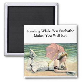 Reading While You Sunbathe Magnet