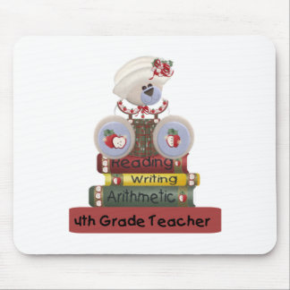 Reading, Writing, Arithmetic 4th Grade Teacher Mouse Pad