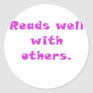 Reads Well With Others Sticker