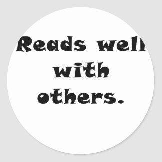 Reads Well with Others Stickers
