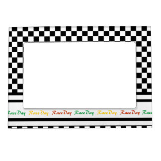 Ready 4 Race Day Classic Racing Check Black White Magnetic Frame