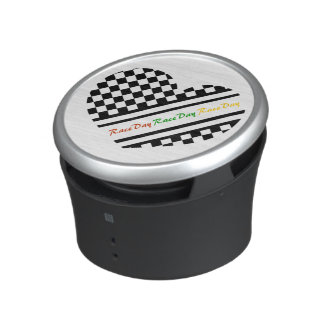 Ready 4 Race Day Classic Racing Check Black White Speaker