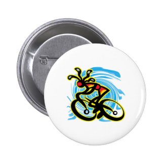 READY AND ROLLING 6 CM ROUND BADGE