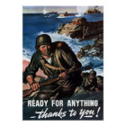 Ready For Anything -- WW2 Poster