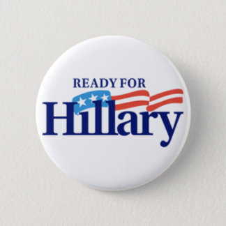 Ready for Hillary Logo 6 Cm Round Badge