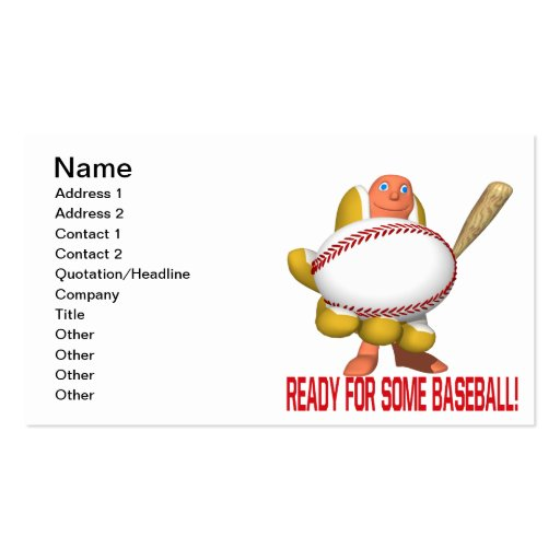 Ready For Some Baseball Business Card