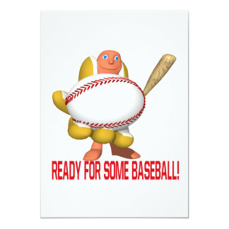 Ready For Some Baseball 5x7 Paper Invitation Card