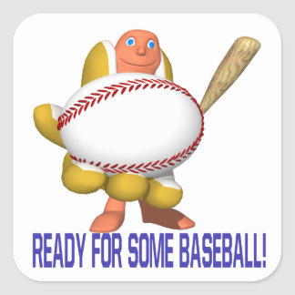 Ready For Some Baseball Square Sticker
