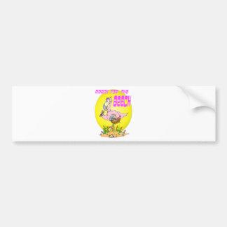Ready for the BEACH Flamingo Car Bumper Sticker