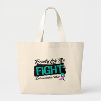 Ready For The Fight Thyroid Cancer Canvas Bag