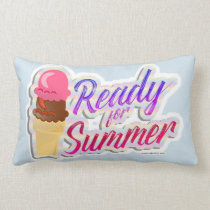 Ready For The Summer Ice Cream Cones Lumbar Cushion