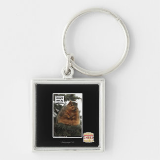 Ready for winter Silver-Colored square key ring