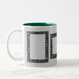 Ready, Frame, Go! ~ add your text and images! Two-Tone Mug