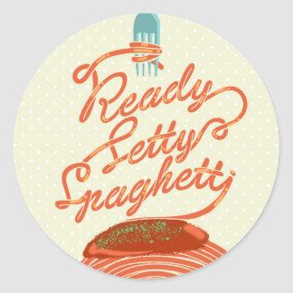 """Ready Setty Spaghetti"" sticker"