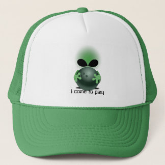 Ready to bowl trucker hat