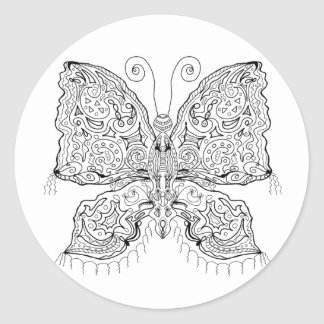 Ready to Color Gypsy Moth Stickers