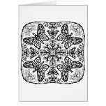 Ready to Colour Butterfly Mandala Greeting Card