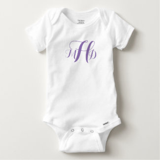 Ready to Customize Monogrammed Infant Fashion Baby Onesie