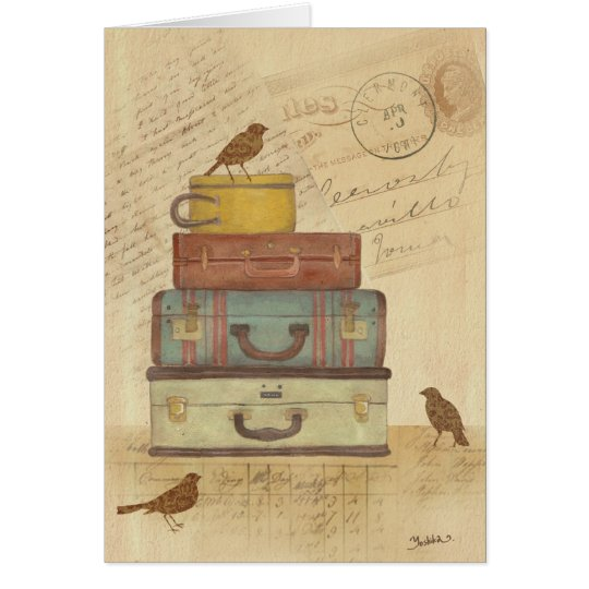 Ready To Fly Illustration Blank Greeting Card