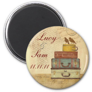 Ready To Fly Love Birds Save The Date Magnet Round