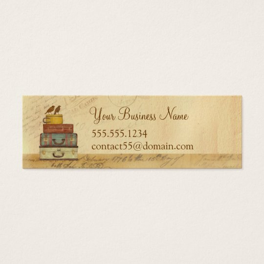 Ready To Fly Love Birds Skinny Business Card