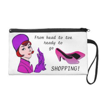 Ready to go Shopping! Cute Wristlet