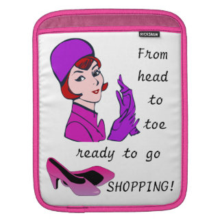 Ready to go Shopping Funny iPad Case Sleeves For iPads