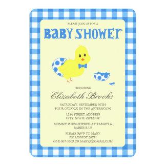 Ready To Hatch Chicky Boy Baby Shower Card