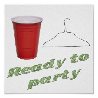 Ready to Party Funny Poster