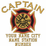 Ready to Personalise Captain Firefighter Badge Polos