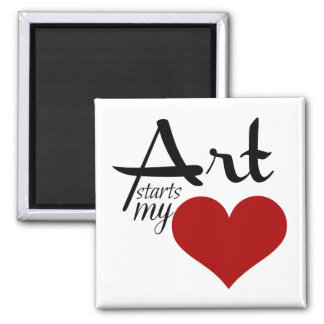 Ready to personalize  ART STARTS MY ♥ magnet