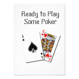 """""""READY TO PLAY SOME POKER"""" CARD PARTY INVITATION"""