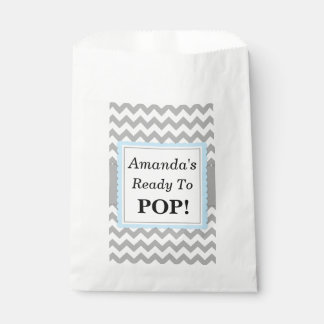 Ready To Pop Favor Bags, Chevron and Blue, custom Favour Bags