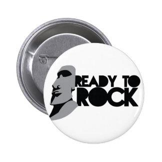 READY TO ROCK! 6 CM ROUND BADGE