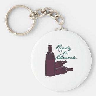 Ready To Uncork Basic Round Button Keychain