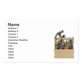 Ready Tools Toolbox Pack Of Standard Business Cards