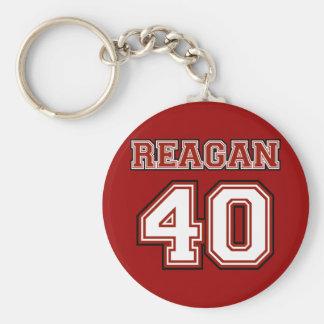 Reagan # 40 basic round button key ring