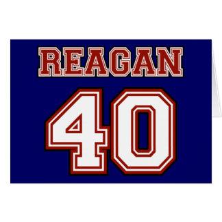 Reagan 40 greeting card
