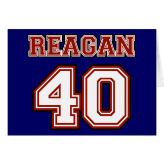 Reagan # 40 greeting card