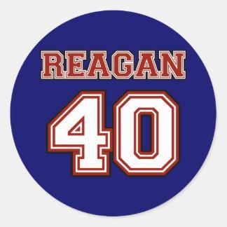 Reagan # 40 round sticker