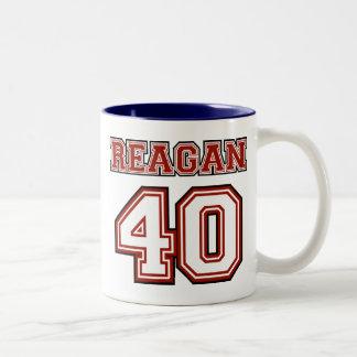 Reagan # 40 Two-Tone mug